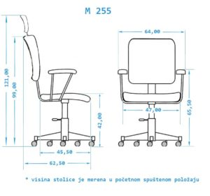 Ergonomska radna stolica M255