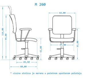 Stolica za kancelariju M260G